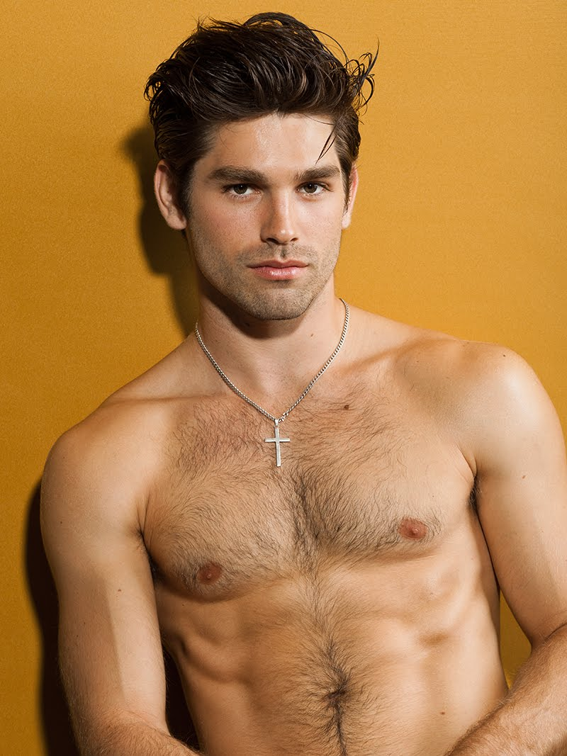 Justin Gaston hairy handsome man from USA.