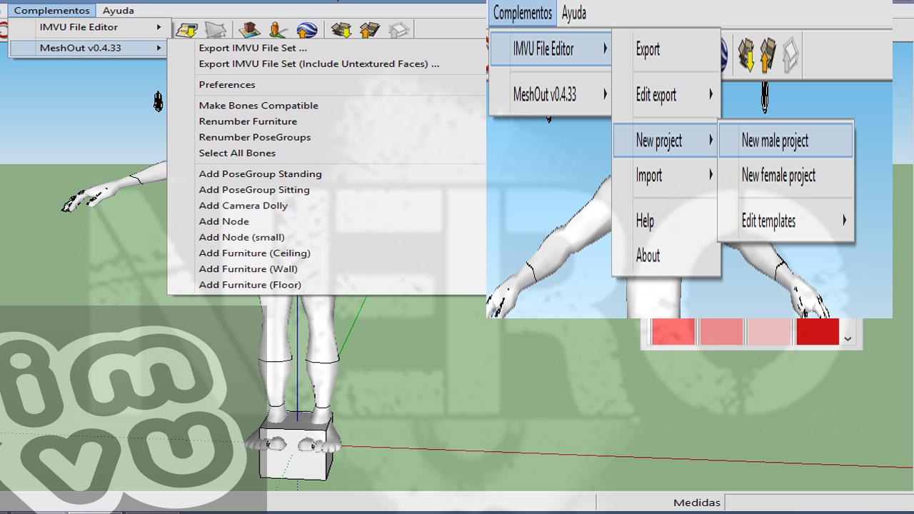 Imvu exporter para sketchup 8 zero for Mobilia para sketchup 8