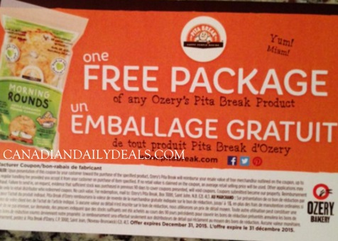 Ozery Bakery Free Coupons Giveaway