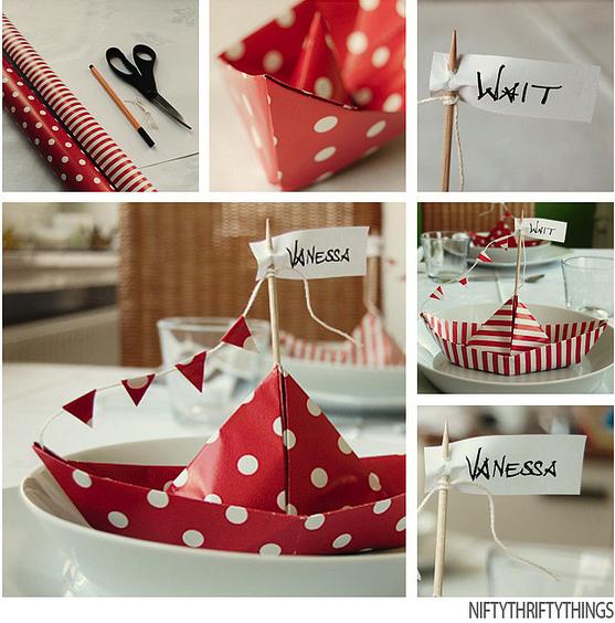 Ideas para mesas marcaplazas de barcos de papel - Decoracion de barcos ...