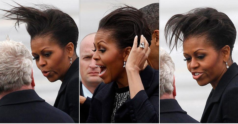 Michelle obama hair in england