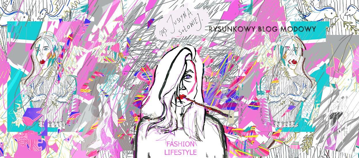 Rysunkowy blog modowy - rys Justyna Sołowiej