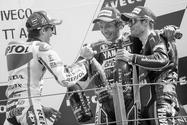 2013 Assen TT Rossi podium