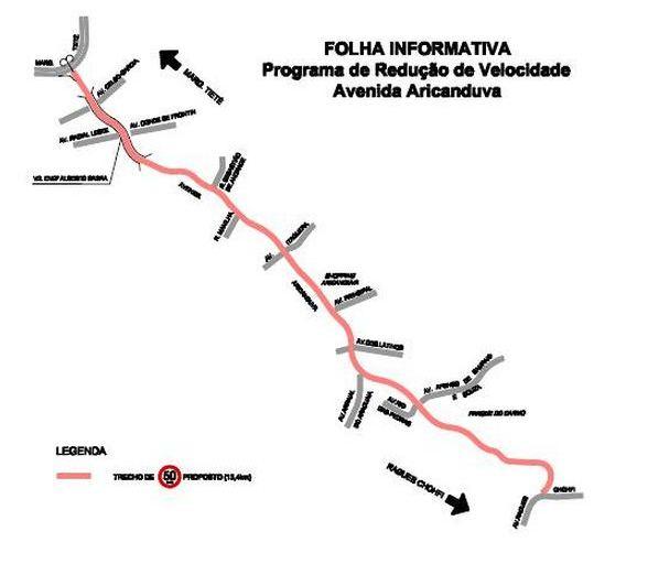 PPV - Redução de velocidade na Avenida Aricanduva