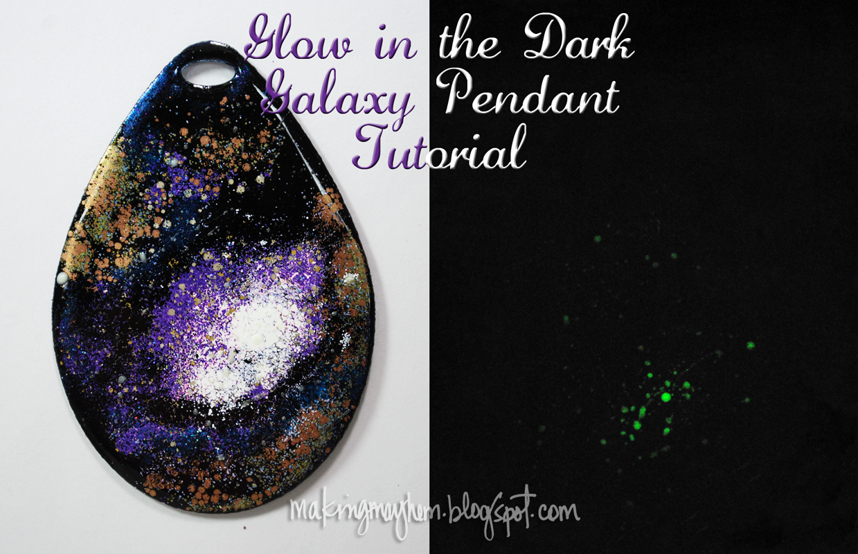 Glow in the dark crafts - It S A Good Thing You Can Make Your Very Own Glow In The Dark Galaxy Pendant In Less Than An Hour