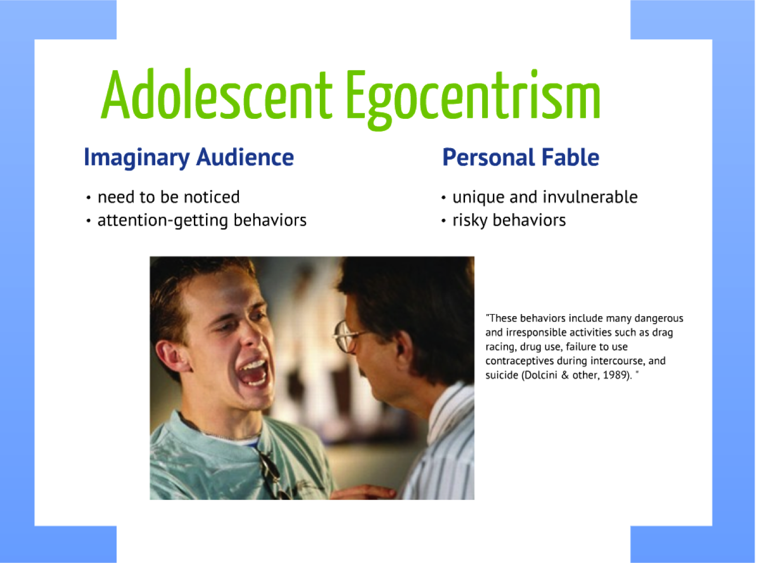 invincibility fable They also lose the personal fable through close relationships that show them their commonalities with others lesson summary egocentrism in adolescence is the tendency for teenagers to focus on themselves.
