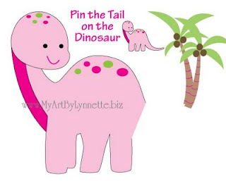 Lynnetteart dino mite dinosaur birthday invitaitons for Pin the tail on the dinosaur template