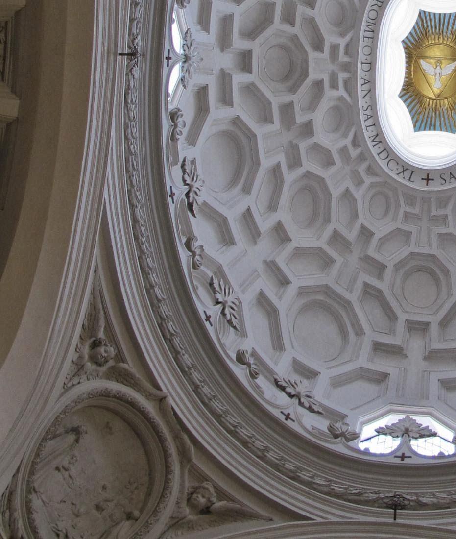 Particolare della cupola di San Carlino