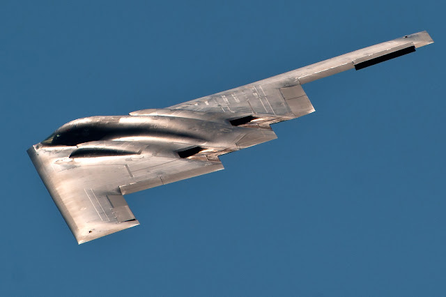 A B-2 Spirit flies June 4, 2011, above Ellsworth Air Force Base, S.D.