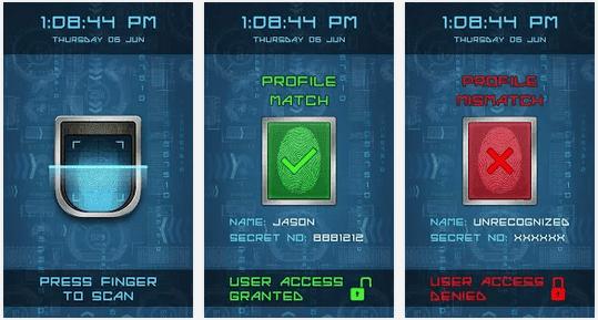تطبيق البصمة السرية fingerprint lock screen