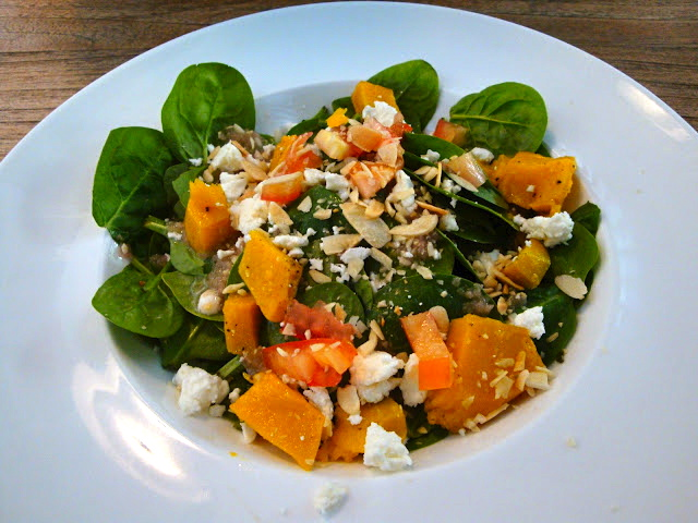 Green Room Cafe Bishan Park Pumpkin and Spinach Salad