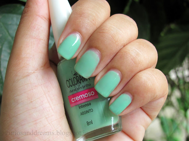 maybelline Colorama Nail Polish Absinto Review, Colorama Absinto, maybelline absinto