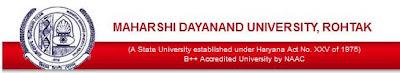 MDU Rohtak Admit Card Download, Print Online