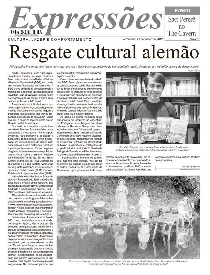 Resgate cultural alemão - Felipe Kuhn Braun
