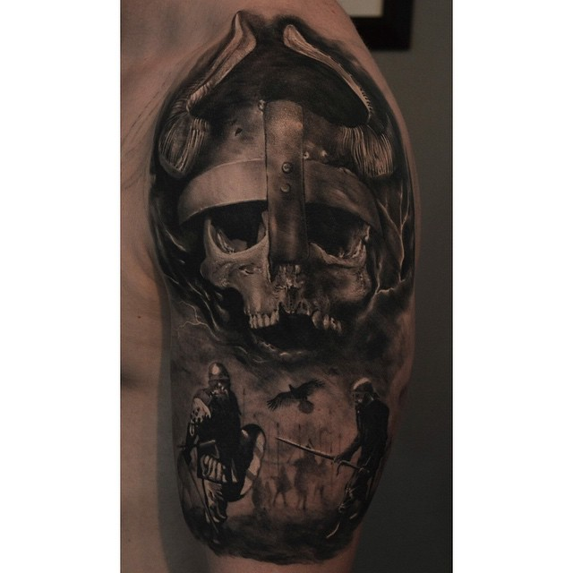 viking skull tattoo tattoo geek ideas for best tattoos