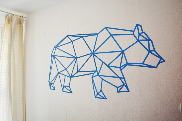 origami-ours-sticker-mural-diy