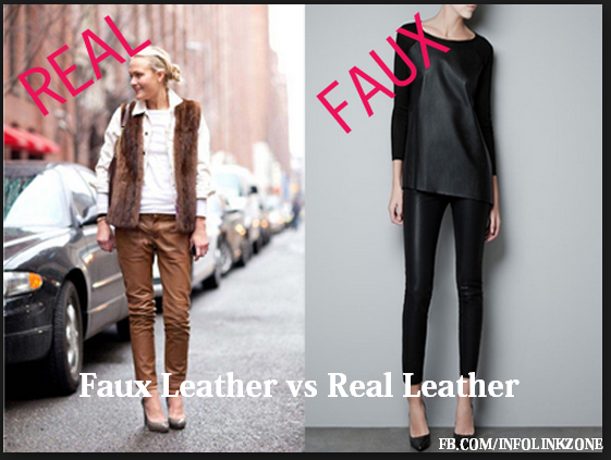 Difference between Faux leather and Real leather