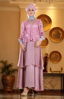 Model Baju Trend Gamis Batik Kombinasi Satin 2015