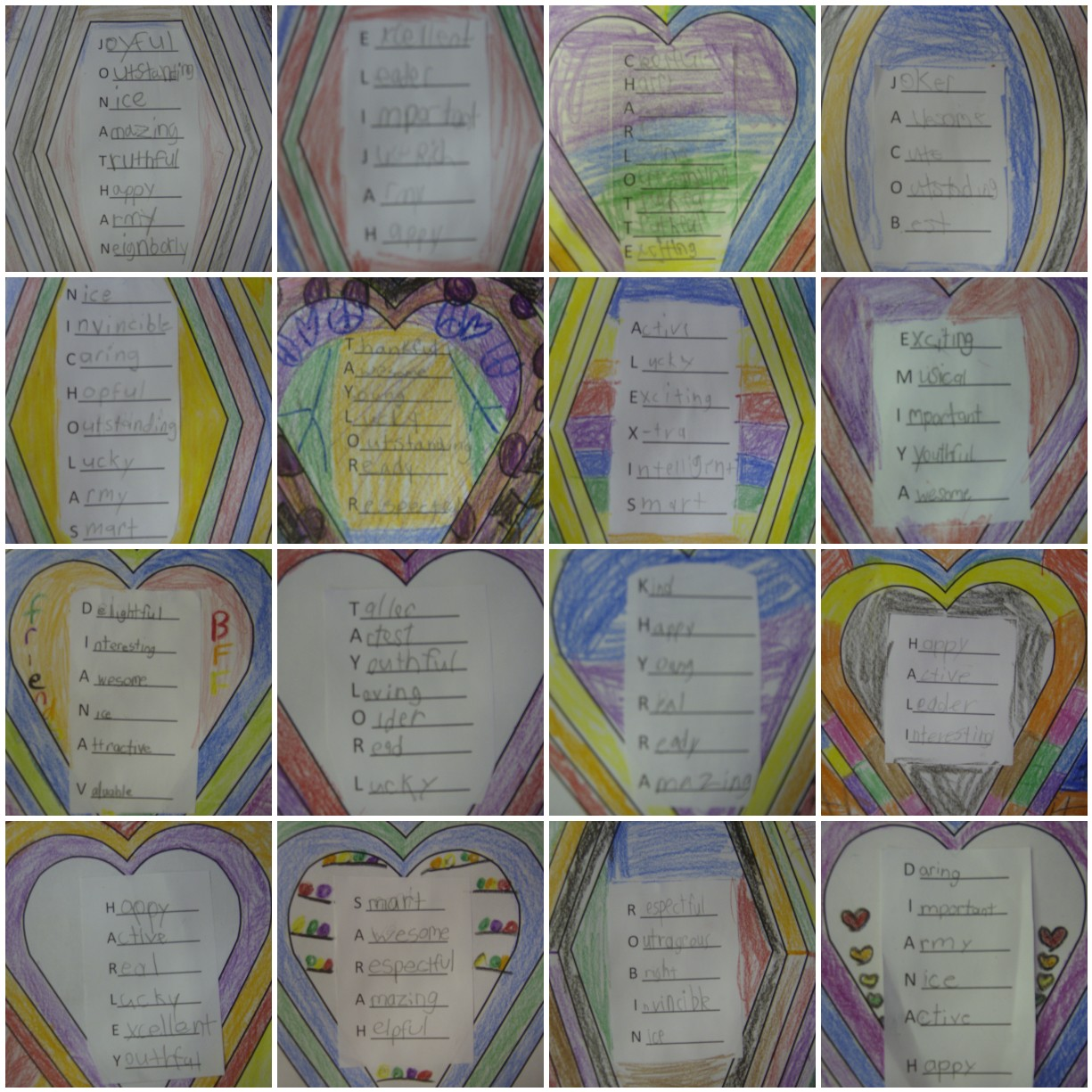... Second Grade S.T.A.R.S. : Mosaic Picture of Adjective Acrostic Poems
