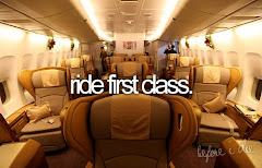 I want to ride in the front of the airplaine or a limosine just once!