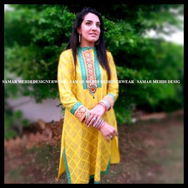 Samar Mehdi Designer Wear Summer Collection 2014 for Girls
