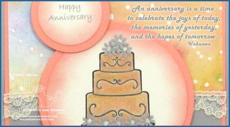 Peek At My Handmade Wedding Anniversary Card