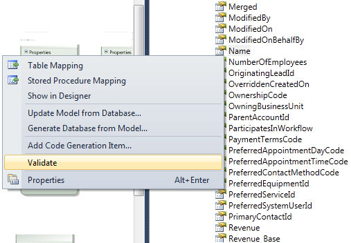 "How to Fix the Entity Framework error ""Problem in mapping fragments""  4"