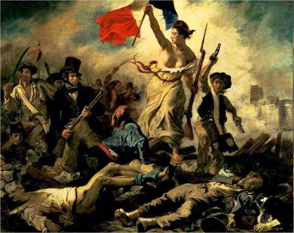 Lukisan Eugene Delacroix Liberty Leading the People