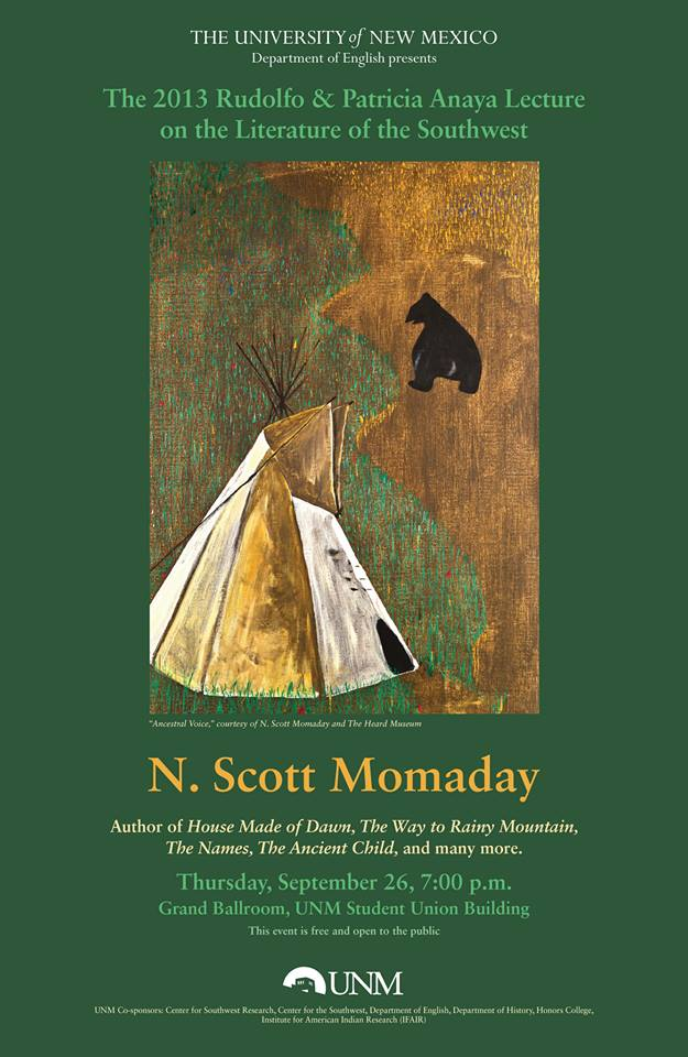 the painting of language throughout house made of dawn by n scott momaday N scott momaday (left) receiving the momaday won the pulitzer prize for his novel house made of dawn (pulitzerorg) momaday was featured in the language.