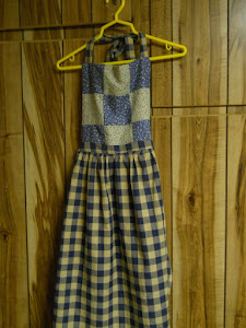 Featured Blue Patchwork Apron
