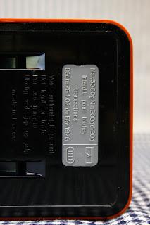 Grande balance Terraillon 3kg orange - Années 70