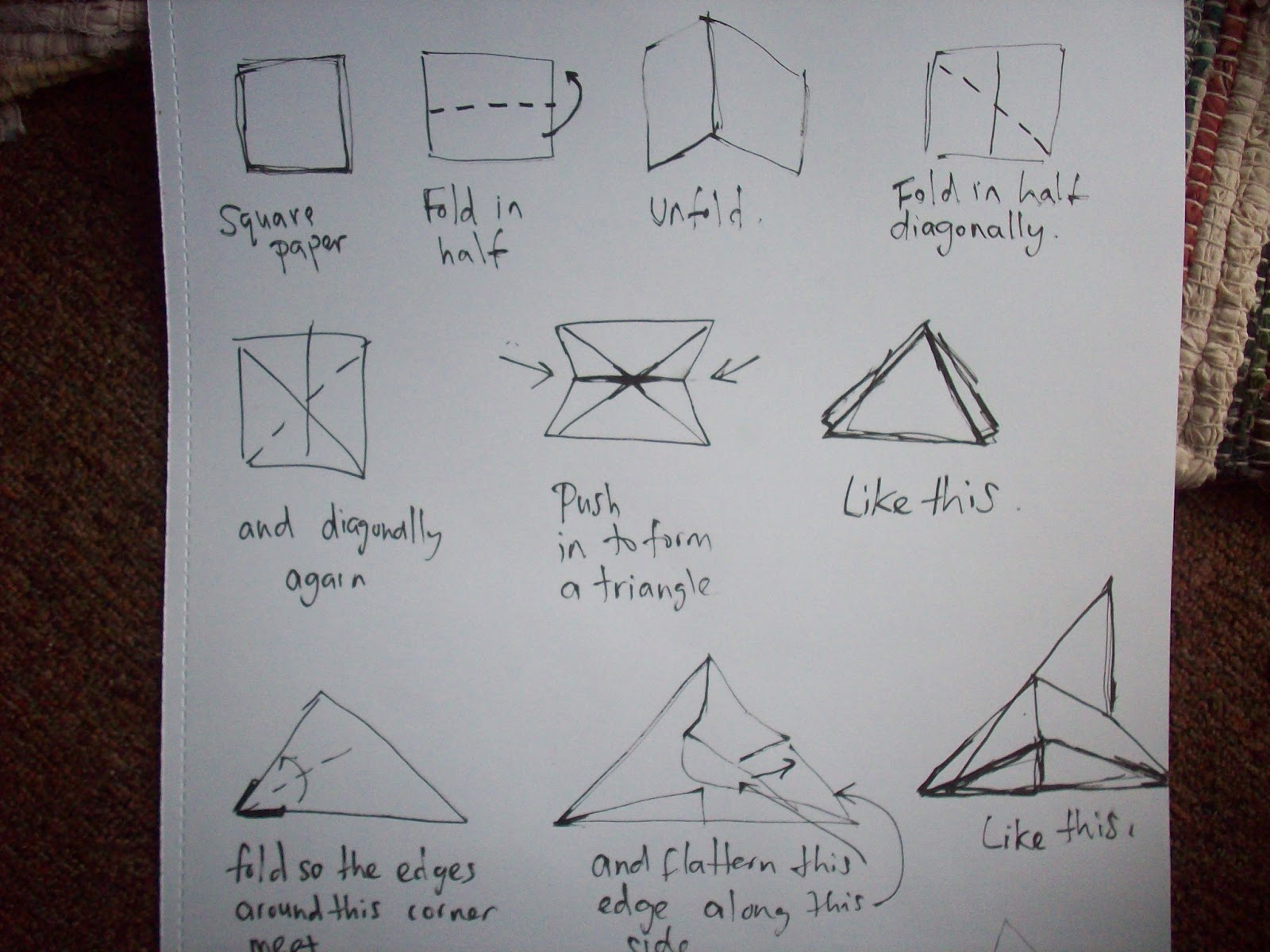 Origami swan instructions step by step rachael edwards for Origami bird instructions