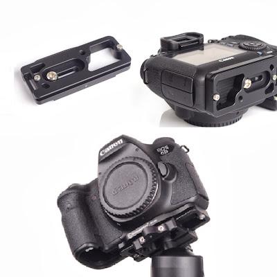 Sunwayfoto PC-6D custom plate on Canon EOS 6D - bottom view