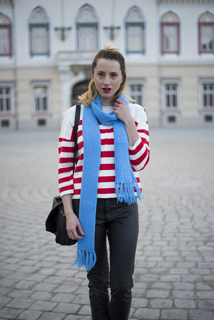 Skinny Buddha knit sweater scarf