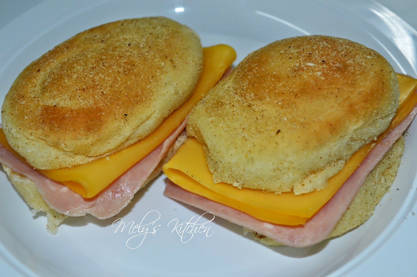Pan De Sal With Ham And Cheese