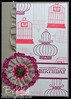 Aviary Card from Bekka's Card Making Class www.feeling-crafty.co.uk
