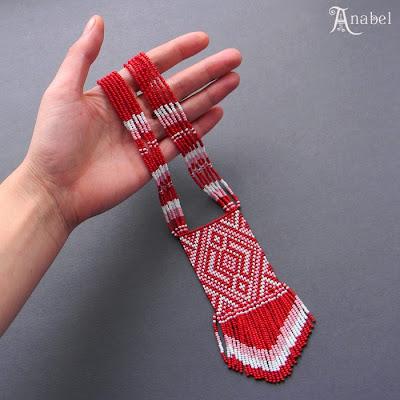 купить заказать украшения из бисера этнические гердан гайтан Anabel