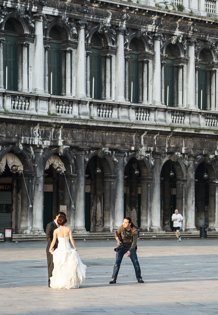 Pre-wedding shoot in Piazza San Marco