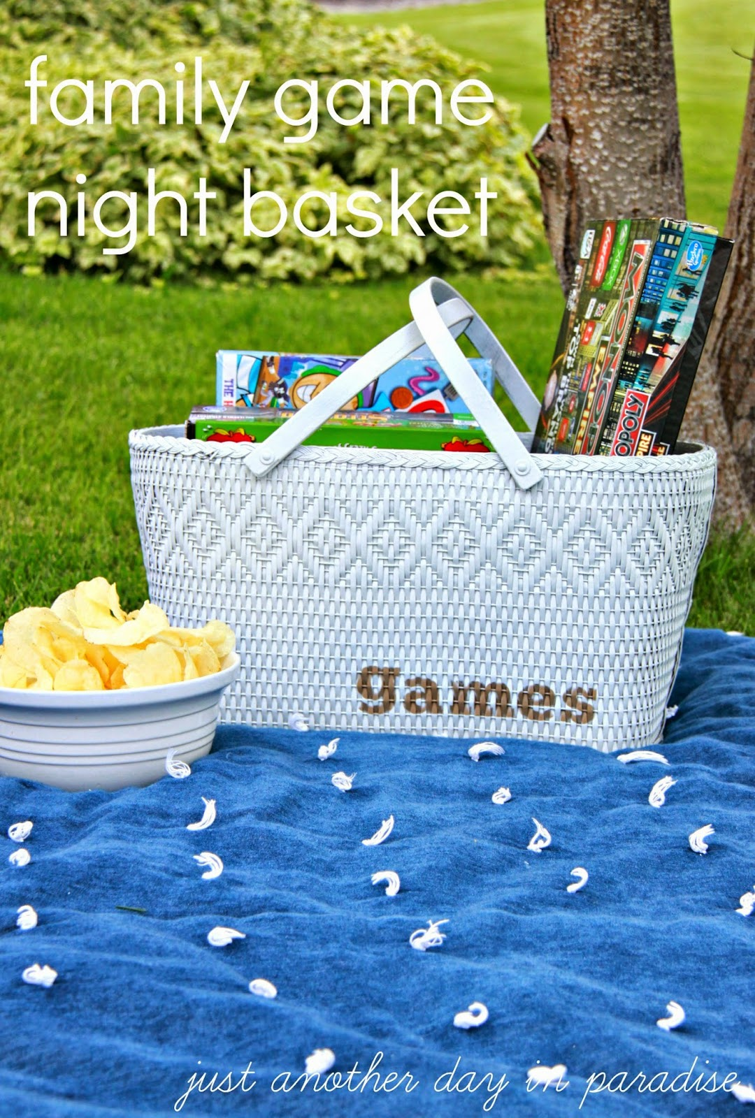 Family Game Night Basket Making Time For Togetherness