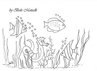Desenhos Para Pintar O Oceano Cheio De Mar