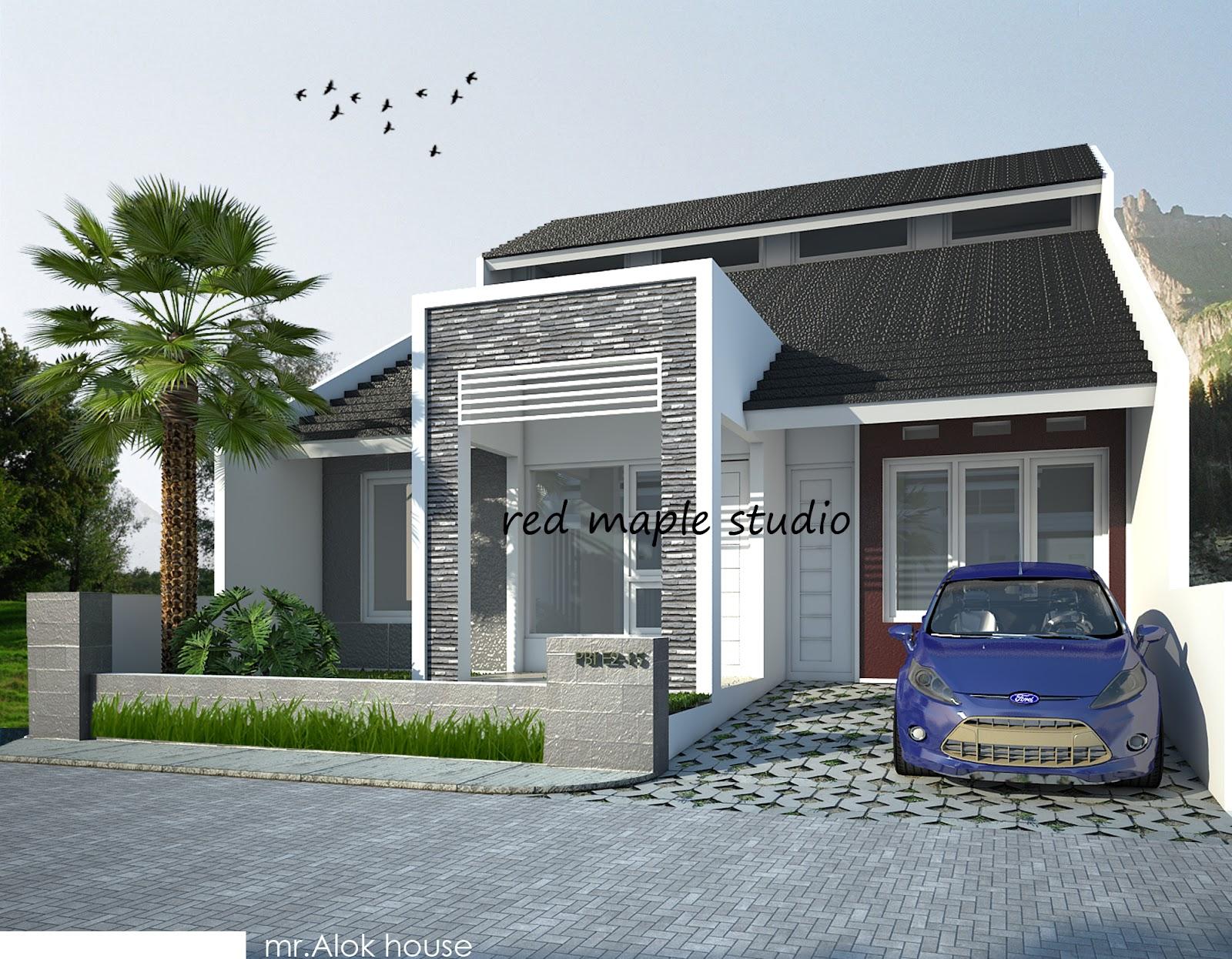 red maple studio desain rumah tinggal pbi malang