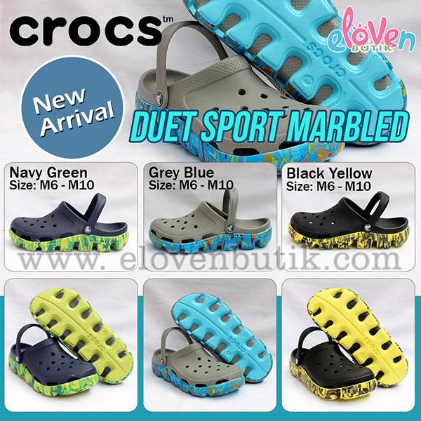 crocs duet sport marbled
