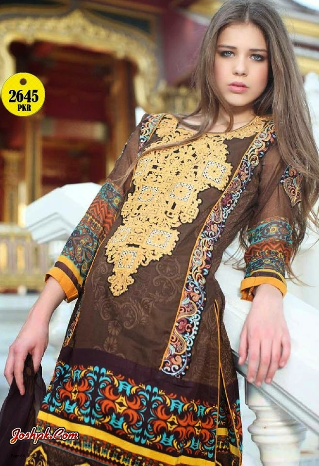 Al Zohaib Textile Monsoon Colorful Summer Collection 2014 For Women
