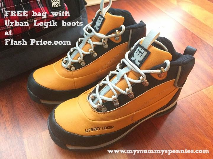 FREE bag with Urban Logik boots at  Flash-Price.com