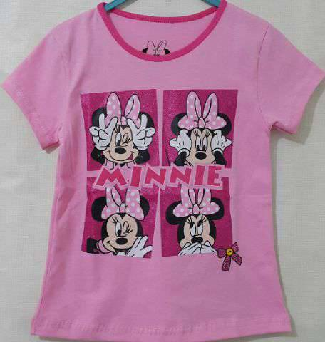 Baju Anak Karakter Minie Mouse Pink Size 1 - 6 Tahun