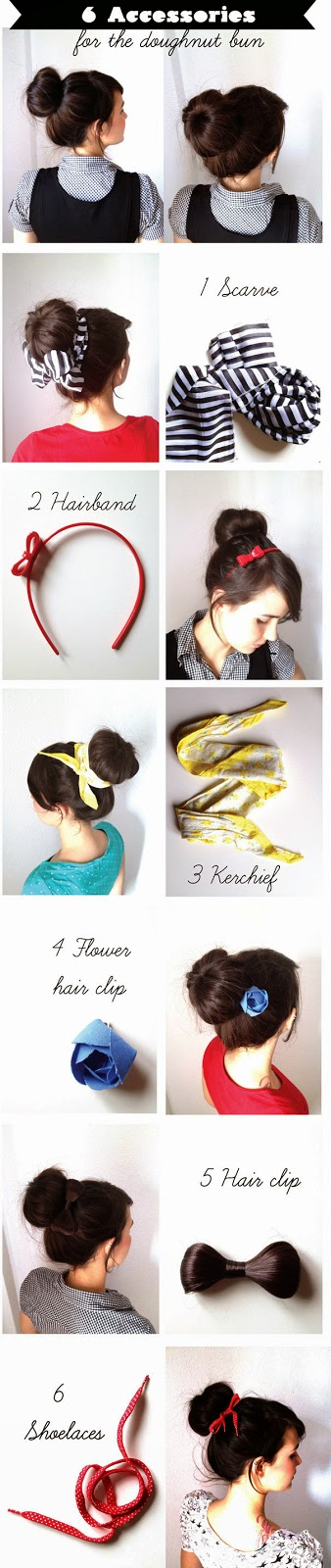 Cara Mengikat Rambut Panjang Ala  Bun Dengan Aksesoris Tambahan