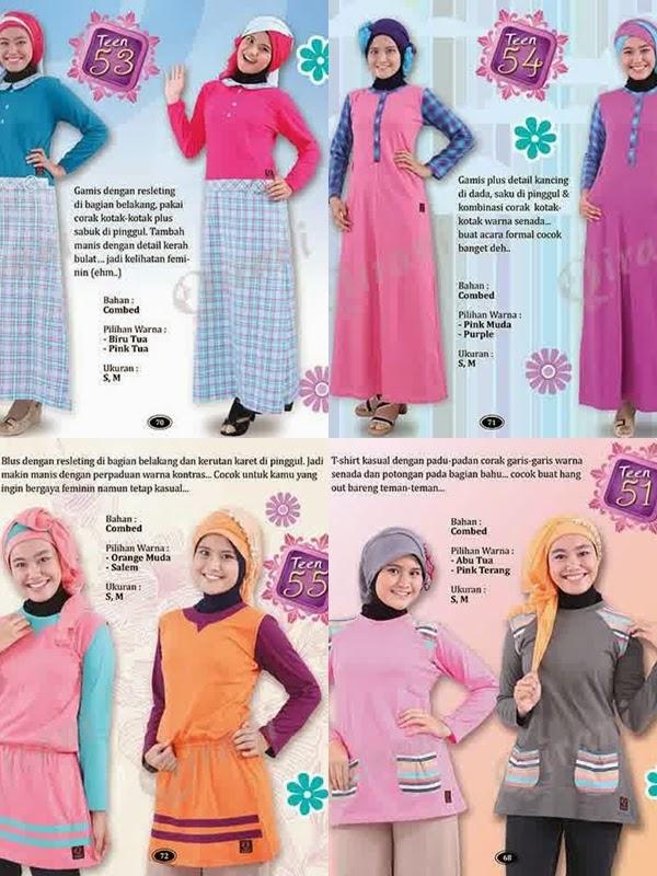 Koleksi Gamis Remaja Muslim Gaul Qirani Teens Terbaru
