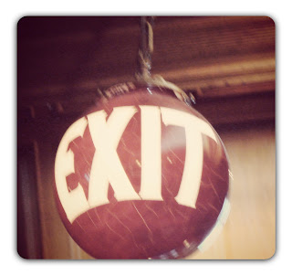 antique exit sign