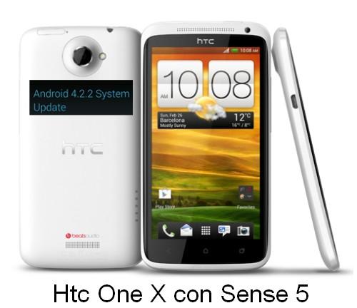 Iniziati gli aggiornamenti in europa dello smartphone android Htc One X alla versione 4.2.2 Jelly Bean che introduce anche Sense 5