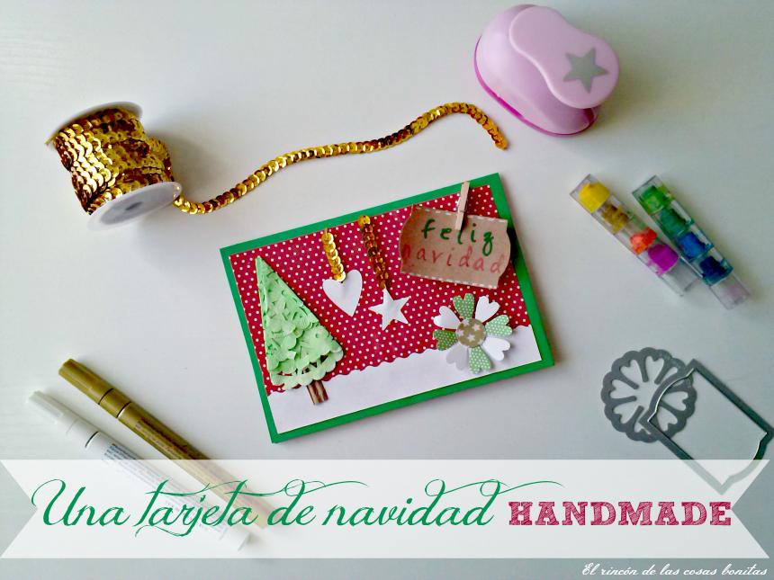 Una tarjeta navide a handmade handbox craft lovers comunidad diy tutoriales diy kits diy - Ideas para una postal de navidad ...